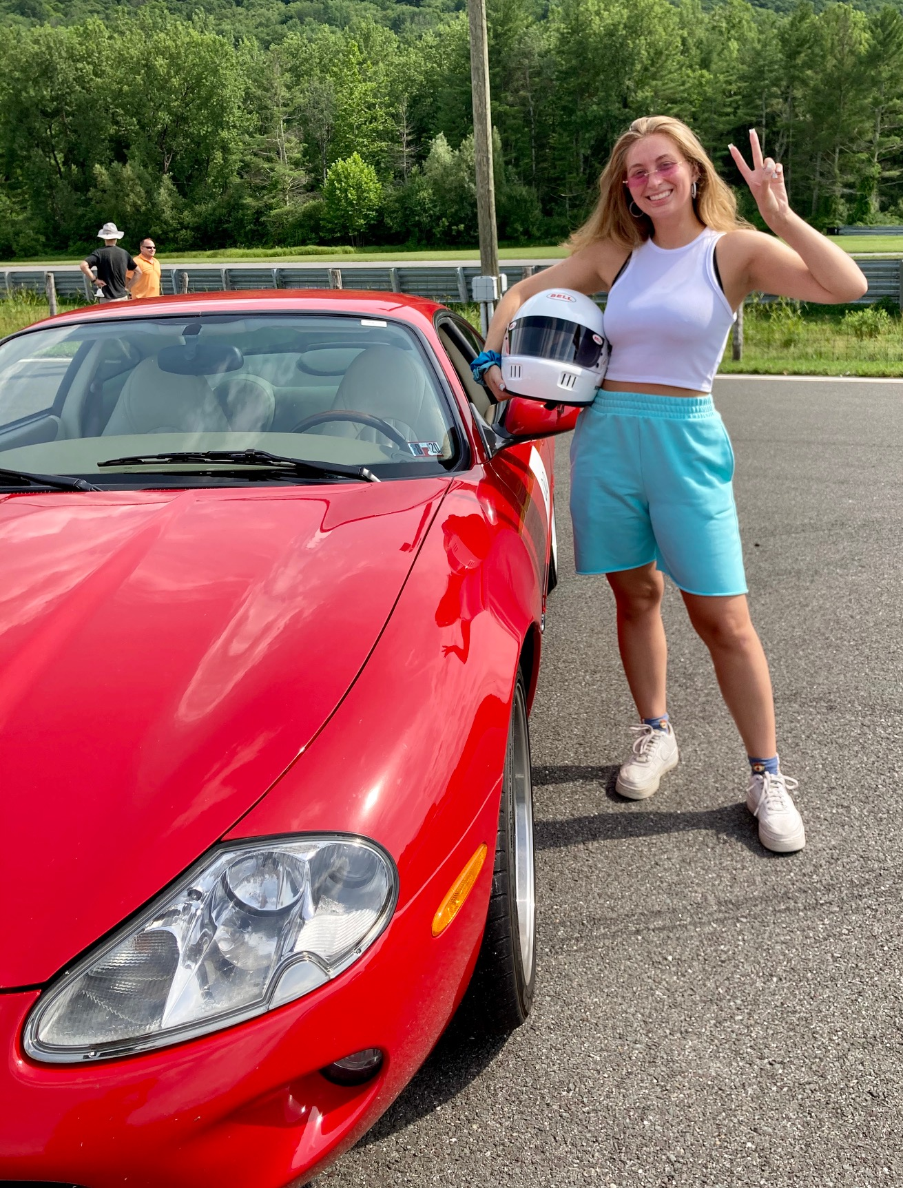 3rd generation member Victoria Clarkson at Lime Rock Park