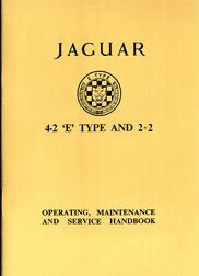 E-type Series 1 4.2 2+2 Owners Handbook
