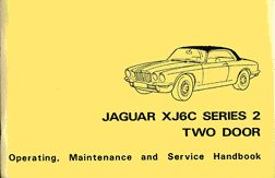 XJ6C Series 2 Two Door Owners Handbook