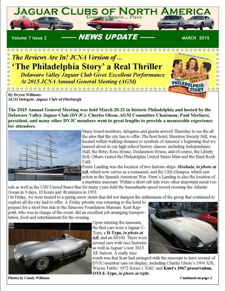 March 2015 JCNA E-Newsletter